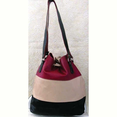 Dimensional Coloured Leather Bag